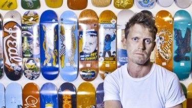 Comedian and skateboarder David Quirk.