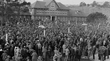 Canterbury racecourse, circa 1930.