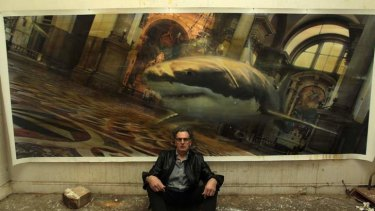 Chaos and calm: Rodney Pople in front of his work <i>Santa Maria della Salute</i>.