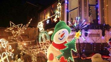 Lights fantastic ... in Frazer Street, Dulwich Hill.