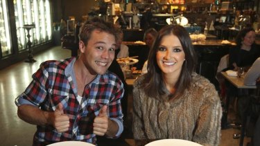 Name of fame ... Lincoln Lewis and Kate Waterhouse at Signorelli Gastronomia at Pyrmont.