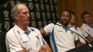 Old ties: Benji Marshall has a strong relationship with Wayne Bennett from their days with the NRL All Stars and Kiwi Test sides.
