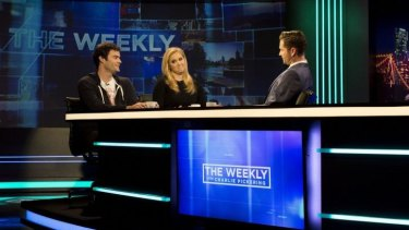Interesting people: Bill Hader and Amy Schumer on <i>The Weekly with Charlie Pickering</i>.