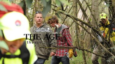 First pictures of the lost teens emerging from the bush near Lorne. More in tomorrow's Age.
