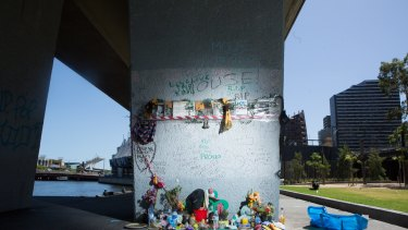Tributes to 'Mouse' in Enterprise Park.