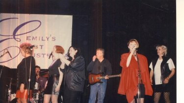 'Joan Jetts and the Fishnets' perform at the Regent Theatre in 1998