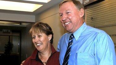 Therese Seeney, with her husband, Deputy Premier Jeff Seeney.