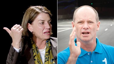 Locking horns ... there are several issues on which Premier Anna Bligh and Brisbane's Lord Mayor Campbell Newman are at odds.