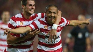 """I'm very happy to make them happy, the supporters of Western Sydney Wanderers"": Wanderers star Shinji Ono."