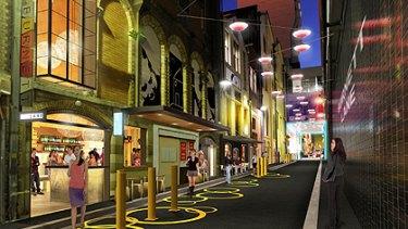 An artist's impression of the revamped Burnett Lane.