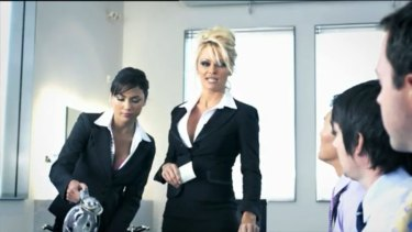 Mad about service: a screenshot of a 2010 Crazy Domains advertisement featuring Pamela Anderson.