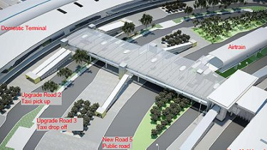 The layout of the Brisbane Domestic Airport terminal when all upgrades are completed. <B><A href= http://images.brisbanetimes.com.au/file/2010/11/16/2046183/airport.pdf > VIEW IN FULL </a></b>