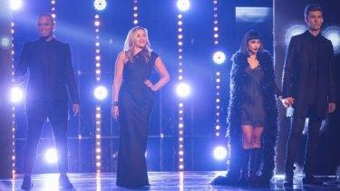 X Factor judges Stan Walker, Melanie Blatt, Natalia Kills and Willy Moon.