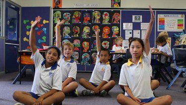 High achievers: Students at Lindfield Public School are performing just as well as their private school counterparts.