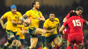 Man of the match: Wallabies five-eighth Quade Cooper.