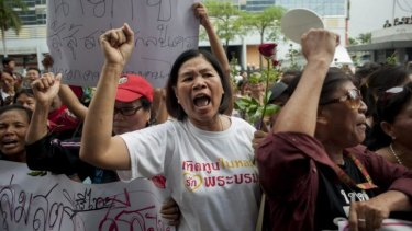 Supporters of Thai Prime Minister, Yingluck Shinawatra.