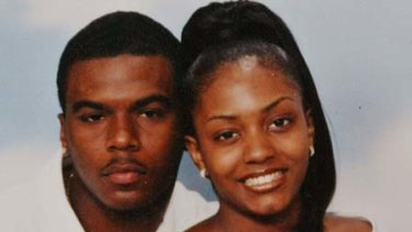 Shot dead ... Sean Bell, pictured here, with his fiancee Nicole Paultre and their daughter.