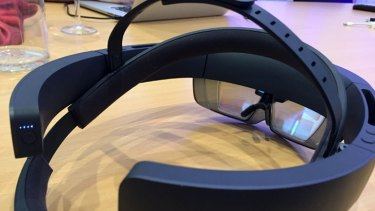Hololens presents a slight different image to each eye to create a sense of depth.