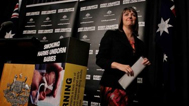 Success ... Attorney-General Nicola Roxon has hailed the plain packaging initiative as a step towards reducing smoking rates in Australia.