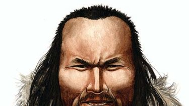 Nuka Godfredsen's impression of 'Inuk', a 4000-year-old man form Greenland whose genome has been sequenced.