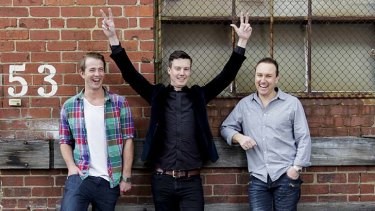 Tweaky.com co-founders Ned Dwyer, 28, and Pete Murray, 24, with lead investor Mark Harbottle.