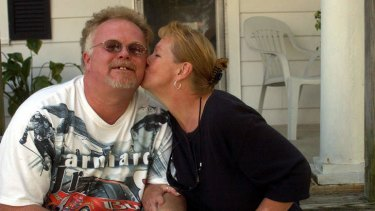 A man reborn: Kirk Bloodsworth, pictured with his wife Brenda, crusades against the death penalty after being wrongly convicted.
