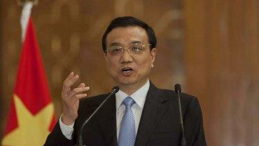 Chinese Prime Minister Li Keqiang.