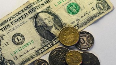 The Australian dollar was overvalued despite falling by about six per cent against the US dollar in September.