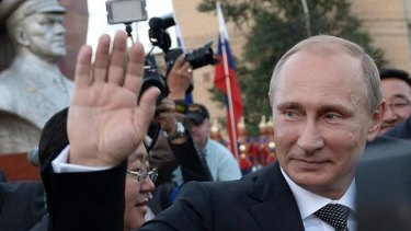 "Still popular ... Russian President Vladimir Putin says the sanctions would do ""more good than harm."""