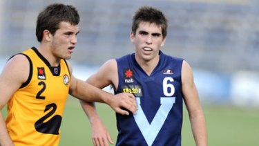 Andrew Gaff is heavily tagged while playing for Vic Metro this year.