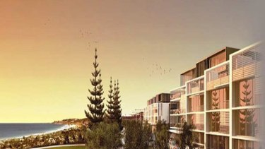 Beachfront developments such as this at Leighton, North, Fremantle, at risk of flooding over the next century.