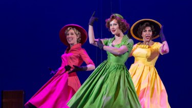 Cinderella story: Madeleine Jones, Ellen Simpson and Natalie Gamsu in <i>Ladies in Black</i>.