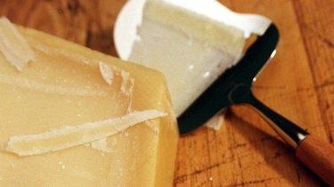 Precious product ... Parmesan cheese.
