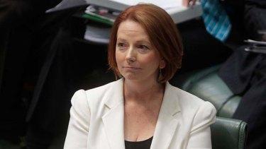 Trailing Tony Abbott ... Prime Minister Julia Gillard.