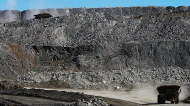 Coal mine near Moranbah, Queensland.