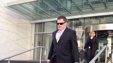 Matthew Gerard Owen Pow leaves Perth District Court.