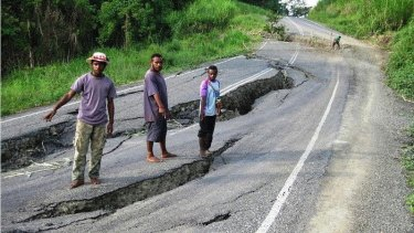 The crumbling Madang - Ramu highway