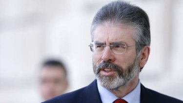 Gerry Adams: accused of staying silent to preserve his political career.