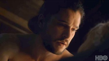 Game of Thrones finale ... Jon Snow, now revealed to be Aegon Targaryen, makes love to his aunt.