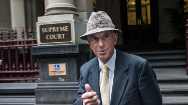 Former premier John Cain outside the Melbourne Supreme Court on Friday.