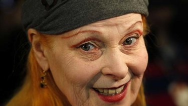 The wild one ... Vivienne Westwood didn't start her fashion career until she hit her 30s.