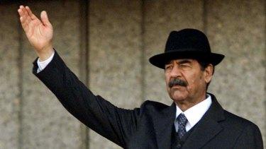 Former Iraqi leader Saddam Hussein.