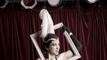 Burlesque performer Lillian Starr strikes a pose.