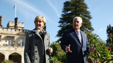 The US Secretary of State Rex Tillerson and Australian Minister for Foreign Affairs Julie Bishop.
