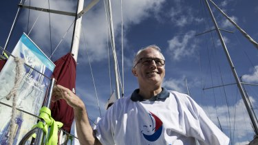Malcolm Turnbull at the launch of the faceboat campaign for Sailors with disABILITIES held in Sydney on Sunday.