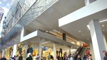 An artist's impression of the new-look Wintergarden in Brisbane's Queen Street Mall.