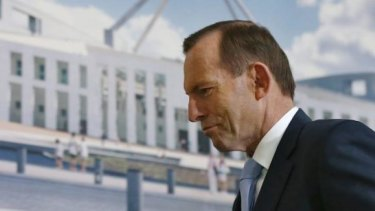 """Prime Minister Tony Abbott: Set to to break his no """"new taxes"""" promise for a second time."""
