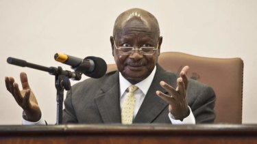 """""""Homosexuals are actually mercenaries. They are heterosexual people but because of money they say they are homosexuals. These are prostitutes because of money."""" - Ugandan President Yoweri Museveni after signing the law."""