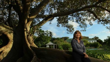 Tree of knowledge ... Varroville resident - and aspiring PhD - Jacqui Kirkby.
