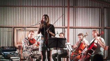 Members of the ACO perform in the shearing shed at Gnaraloo Station.